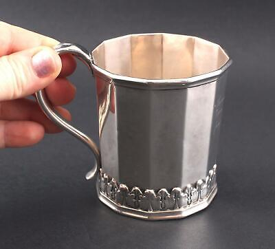 Antique Hallmarked 1841 Boston Lincoln Reed American Pure Coin Silver Childs Cup