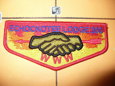 OA Echockotee Lodge 200,2017 LONG,Colorful SERVICE Flap,North Florida Council,FL