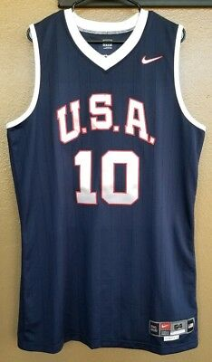 532fff408 Lakers Kobe Bryant size 54+4 Team Issued USA Authentic Pro Cut Jersey  10