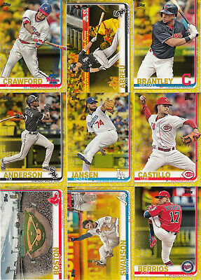 2019 Topps S1 Parallel Walgreens Yellow #191 DANSBY SWANSON Braves