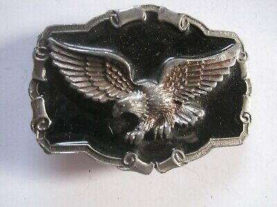 1983 Bald Eagle Belt Buckle-Great American Buckle Co.-Serial No.QD124-Made in US