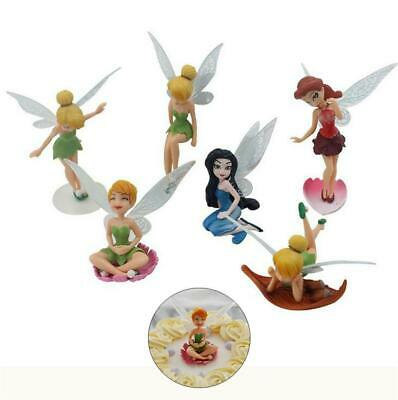 6Pcs/Set Fairy Princess Girl Doll Toy Toppers Cake Party Birthday Decoration HOT