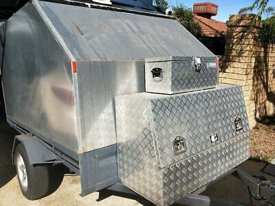 Enclosed motorbike trailer with lockable boxes, great condition