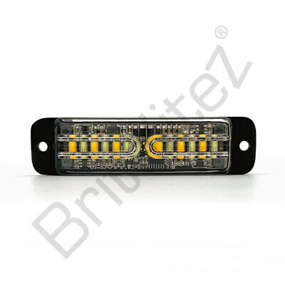 DUAL COLOUR LED Warning Light, Grill, Directional,12 LED, Super Bright, UK