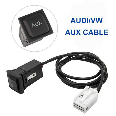 Car AUX USB Cable Switch Button For VW JETTA GOLF MK6 MK5 RCD510 Black New UK