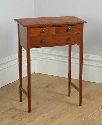 Antique English 19th Century Georgian Country Oak Occasional Hall Side Table