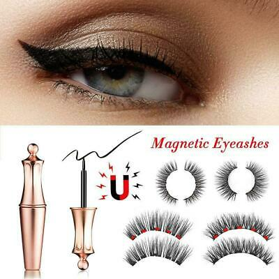 New Design Magnetic Liquid Eyeliner and Magnetic Lashes With Tweezers Set