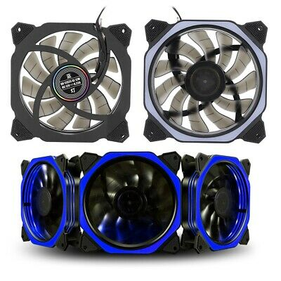Colourful LED Cooling Fan RGB 120mm 12V Cooler Silent For Computer Case PC CPU