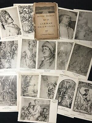 Vintage Art Postcard x 15 GERMAN DRAWINGS from the British Museum Set 13