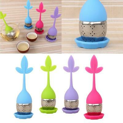 Tea Infuser-Leaf Strainer Silicone Herbal Spice Filter Diffuser Ball 4 Colors