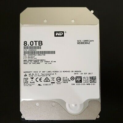 WD RED 8TB NAS Hard Drive 5400RPM Class SATA 6Gb/s 256MB Cache 3.5 Inch WD80EMAZ