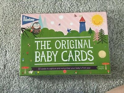 Original Baby Milestone Cards ~ 1st Year Memorable Moments