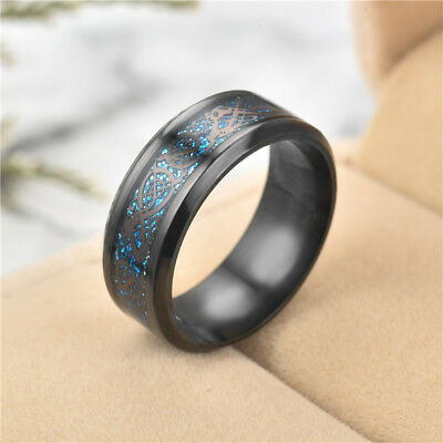 Fashion Stainless Steel Couple Ring MenWomen Wedding Party Gifts Band New Size 9