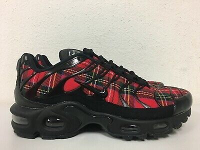 86dfc87d1e Nike Womens Air Max Plus TN SE Tartan Black University Red AV9955-001 Size  5.5