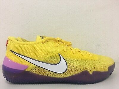 premium selection 8cfe5 cdd84 Nike Kobe AD NXT 360 Yellow Strike White Lakers AQ1087-700 Size 9.5