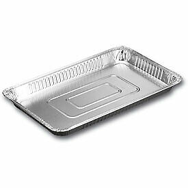 50 x Full Gastronorm Shallow Aluminium Foil Trays Recyclable   Catering Supplies
