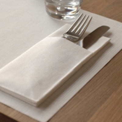 260 x Duni White Duniletto Slim Napkin Compostable | Catering Supplies
