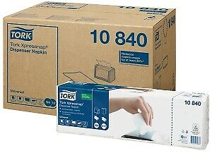 9000 x Tork Xpressnap White Dispenser Napkin - 1ply 4fold Compostable | Catering