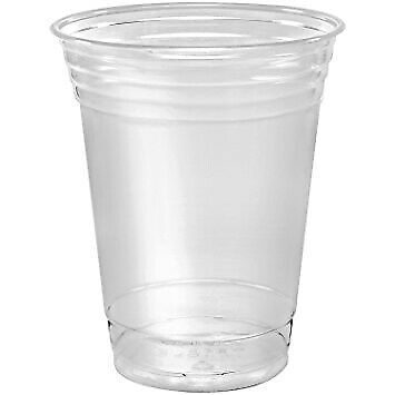 1000 x 16oz Clear Smoothie Cups / Lids Recyclable | Catering Supplies