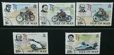 ISLE OF MAN 1982 Tourist Trophy Motorcycle Racing. Set of 5. Fine USED SG218/222