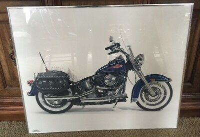 HARLEY-DAVIDSON HERITAGE SOFTAIL Professionally Photograped Framed POSTER