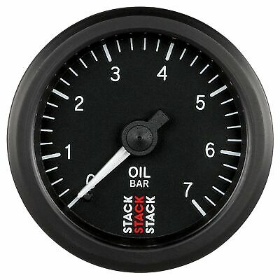 Stack 0-7 Bar Oil Pressure Gauge 52mm Mechanical Black face Illuminated ST3101