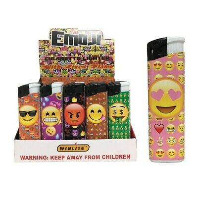 New 809717  Lighters Emoji Designs Asst (50-Pack) Bbq And Grill Cheap Wholesale