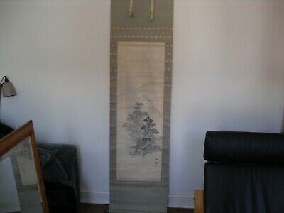 antique Japanese painted scroll, No 3