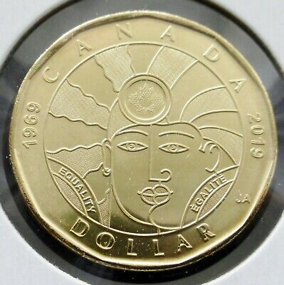 Canada 2019 New $1 Equality Dollar Coin - Ms - From  Mint Roll - (C924)