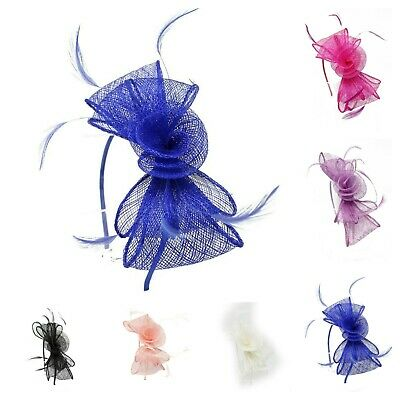 Elegant Feather Fascinator Headpiece Headband Party Top Hats Royal Ascot Races