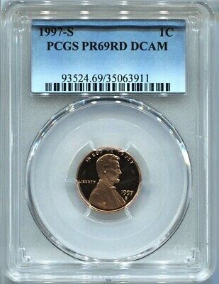 1997 S 1C Lincoln Cent Penny PCGS PR69RD DCAM