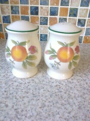 Cloverleaf Peaches & Cream Salt & Pepper Pots With Stoppers