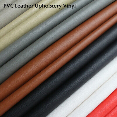 "Vinyl Fabric Upholstery Auto Marine Grade Faux Leather 54""W x 36Inch All Colors"
