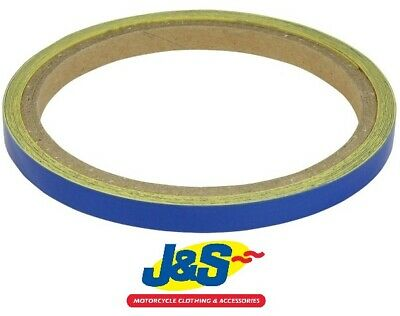 Bike It Reflective Wheel Body Stripes 7MM Motorcycle Trim Tape WST016 Blue J&S