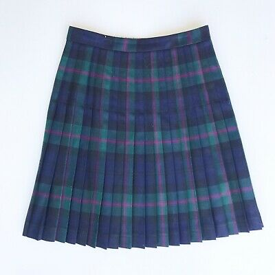 cc9a95a53 346 Brooks Brothers Sz 2 Petite Plaid High Waist Skirt Pleated School Girl  Prep