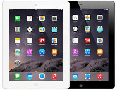 "Apple iPad 4 4th Gen | 16GB 32GB 64GB | Wi-Fi 9.7"" - Black or White"