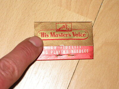 "Gramophone Needle card ""His Master's Voice"""