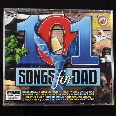 5 CD 100 Hits 70s 80s 90s Songs For Dad Alternative Classic Rock Import Various