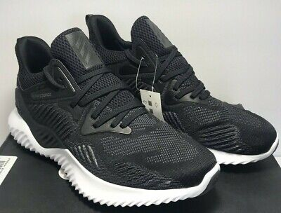 Adidas Mens Size 9.5 Alphabounce Beyond Black Athletic Training Shoes AC8273