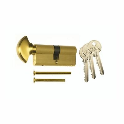 Era Euro Thumbturn 6 Pin Cylinder 35/35 Brass Clam  Cylinder Locks 4104-32