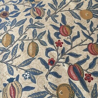 """William Morris & Co fabric curtain Upholstery material""""FRUIT """"lovely 3m 54""""wide"""