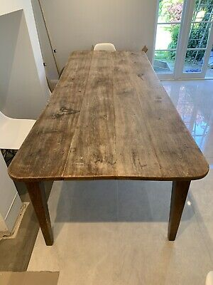 Antique Elm Large Dining Table