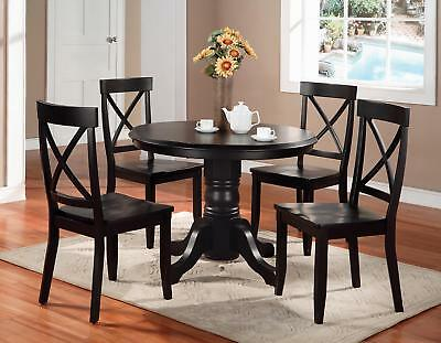 Home Styles Round Dining Table And Dining Chairs Black
