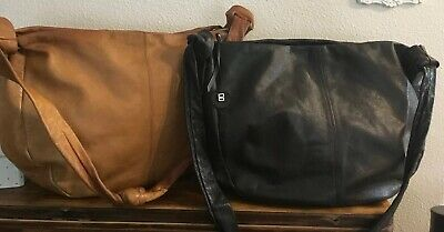 Bree Germany Classic Gorgeous Large Satchel Shoulder / Crossbody's 2 Black, Tan