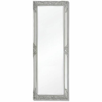 140cm vidaXL Wall Mirror Baroque Antique Wardrobe Fitting Dressing Mirror Silver