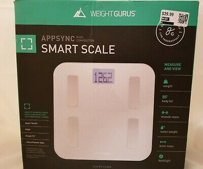 Weight Gurus Digital Body Fat Scale with Large Backlit LCD OPEN BOX NEW
