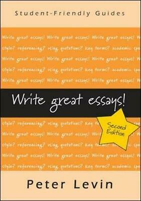 Write Great Essays (Student-Friendly Guides), Levin, Peter, Good Condition Book,