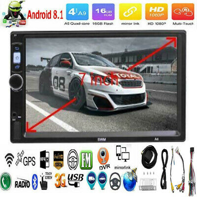 "7"" 2Din Android 8.1 Quad Core GPS WiFi BT Car Stereo MP5 Player FM Radio AUX USB"