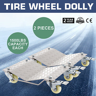 2 Car Wheel Dollies Car Skate Dolly Van Positioning Garage Jack New