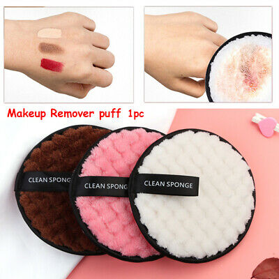Microfiber Face Cleaner Makeup Remover Towel  Cleansing Cloth Pads Plush puff
